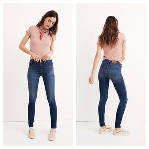 "MADEWELL 10"" High-Rise Skinny Jeans in Danny Wash"